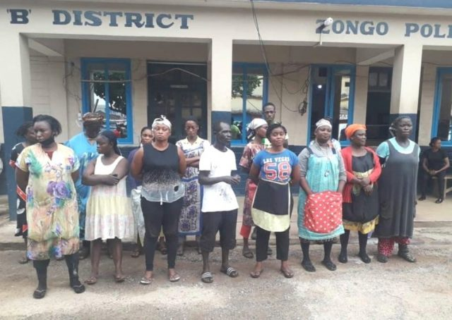About 15 traders in Kumasi have been arrested by the Police for flouting lockdown directives.
